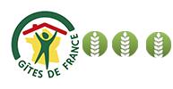 logo gîtes de France, classement 3 épis