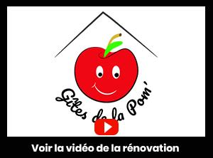 lien vers You Tube présentant la vidéo de la rénovation du gîte de la Pom